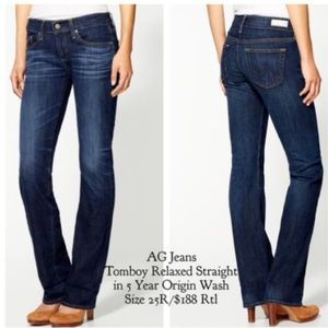 AG Adriano Goldschmied The Tomboy Jeans 27 $188
